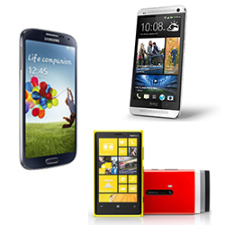 Samsung Galaxy S4 Screen vs Lumia 920 vs HTC One Review