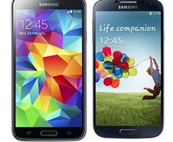 Samsung Galaxy S4 versus Samsung Galaxy S5