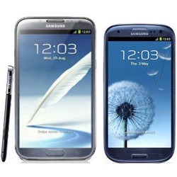 Samsung Galaxy Note II vs Galaxy S III Review Compartion