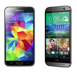 Galaxy S5 vs HTC One Review